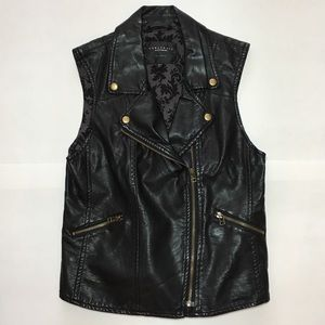 SANCTUARY Faux Leather Motorcycle - Moto- Vest